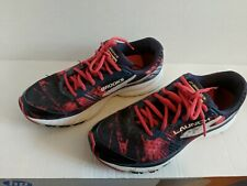 Brooks Launch 3 Running Shoes Blue Red Low Top Women's Size 9 B 1202061B486