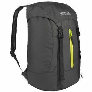 Unisex Regatta Easypack II 25L Lightweight Packaway Backpack Ebony Neon Spring
