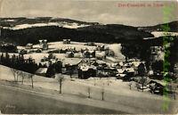 AK Karpacz (Ober Krummhübel) Riesengebirge, Totalansicht im Winter, 15/06