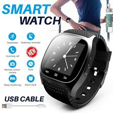 New Unisex Bluetooth Smart Wrist Watch Waterproof For Apple iphone Samsung Phone