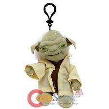 """Star Wars Yoda Plush Doll Coin Bag 7"""" Soft Key Chain Clip On"""