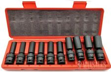 "10Pc 3/8"" Drive Universal Swivel Deep Impact Socket Set (METRIC) PRO Radius Set"