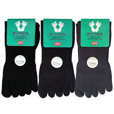 BYC Men's Toe Socks 5Pairs Cotton Crew Long Length Five Finger Made In Korea