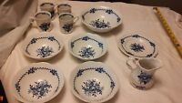 Dresden 11 pc of JG MEAKIN ENGLAND  BLUE CHINA VERY GOOD CONDITION.