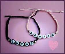PERSONALISED CORD FRIENDSHIP BRACELET ANY NAME ANY COLOUR CORD