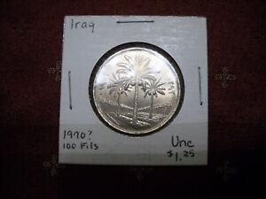 1972 Iraq 100 Fils Coin in Pristine Uncirculated Condition, KM #129