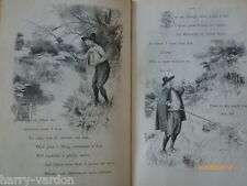 Antique Victorian Engravings Hugh Thomson Illustrated Article 1888 Anglers Song