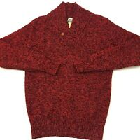 Vintage Woolrich Mens Wool Sweater Pullover Red Size Medium