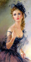 Irina portrait Oil Painting Giclee Art Printed on canvas L1943