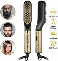 2020 Professione Piastra per capelli barba 2 in 1 per uomo Pettine elettrico