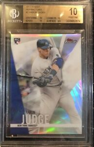 AARON JUDGE 2017 TOPPS FINEST REFRACTORS #2 ROOKIE CARD BGS 10 PRISTINE RARE 💎
