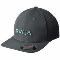 RVCA Men's RVCA Flexfit Hat Charcoal Htr Gray Headwear Baseball Cap
