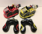 Kid Galaxy Remote Control Bumper Cars Red and Yellow