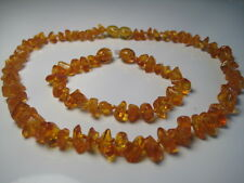 Genuine BALTIC AMBER BABY NECKLACE+ BRACELET