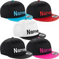 Kinder Snapback Cap bestickt mit Name Wunschtext Basecap Kappe Mütze Cappy Kids