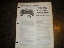 Wheel horse outdoor power equipment manuals guides ebay wheel horse tractor owners manual 8hp 4 spd alum eng 1 0276 1 0277 publicscrutiny Choice Image