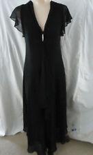 LITTLE BLACK DRESS Chiffon+RHINESTONE Trim COCKTAIL FORMAL SEMI Womens 18W NWOT