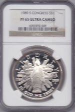 1989-S Congress Commemorative Dollar [S$1] 90% Silver Proof NGC PF 65 UCAM