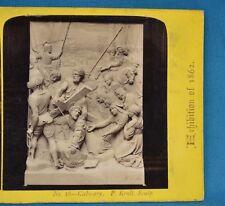 1862 Stereoview Photo The International Exhibition No46 Calvary By P Eroli