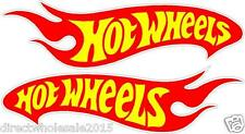 "Lot of (2) 9"" Hot Wheels Car Stickers Decal Art Vinyl Wall Sticker"