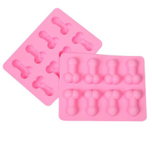 Penis Dick Silicone Ice Cube Tray Baking Jelly Chocolate Mould Night Hen Party