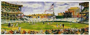 Bill Goff Art Postcard Yankee Stadium Diptych NEW YORK YANKEES 1990