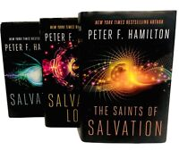 Peter F Hamilton Salvation Lost Book Lot Hardcover Science Fiction 1st Ed., New