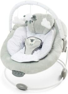 LADIDA Grey New Born Lamb Bouncer Recliner, Soothing Music Vibration and Toys,77