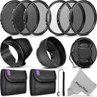 58MM Altura Photo UV CPL ND4 Filter Kit, ND Filter Set & Lens Hood Bundle