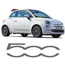FIAT 500 Logo Lato Gonna ADESIVI 500 C ADESIVO ABARTH SPORTIVI A Righe Grafica