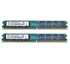 New 4GB 2X 2GB PC2-5300 2RX8 DDR2-667MHz 240PIN DIMM Desktop Memory RAM NON-ECC