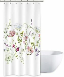 """Stall Size 36"""" x 72"""" French Country Elegant Floral Fabric Shower Curtain"""