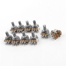 10PCS Top Adjustment Linear Dual Knurled Shaft Potentiometer 50K Ohm B50K V9J7