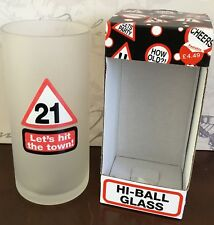 21st glass high tumbler party gift