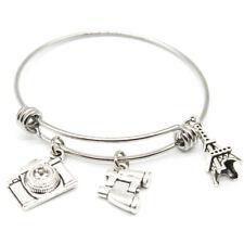 Eiffel Tower  bangle bracelet  Personalized Travel Bracelet  Adjustable Bracelet
