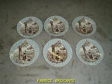 SERIE DE 6 ASSIETTES SARREGUEMINES SERIE ABRICOT