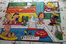 """Vintage Snoopy Jigsaw Puzzle. """"Sports Centre"""" 150 pc Boxed, 1 Piece Missing!"""