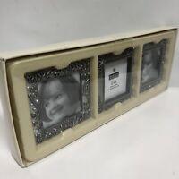Burnes Of Boston Mini Photo Frames Set Of 3 New In Box(2005) Matching 2x2 Pewter