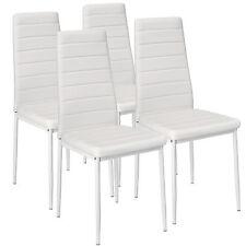 4x Esszimmerstuhl Set Stühle Küchenstuhl Hochlehner Wartezimmer Stuhl weiß neu