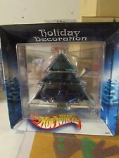 Hot Wheels Holiday Decoration Green Tree with Blue Truck