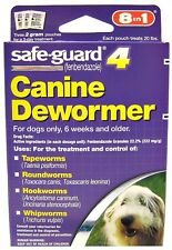 Safe-Guard 4 Canine Dewormer 8 in 1 - Each Pouch Treats 20 Pounds