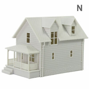 1pc N Scale 1:160 Model Blank House White Unassembled Architectural Building