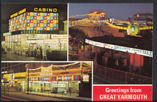 Norfolk Postcard - Greetings From Great Yarmouth - Casino, Paradium Funland 1851