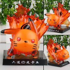 Pokemon Pikachu cos Naruto Ootutuki Hagoromo Rikudo Sennin Figurine Statue Toy