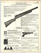 1949 PAPER AD Crosman Silent Air Rifle Bulleye Pistol .177 .22 Cal Caliber