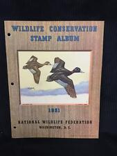 1951 Wildlife Conservation Stamp Album Ring Necked Duck - Collectors