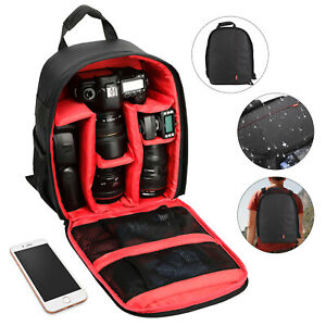 Camera Backpack Shoulder Bag Case for Canon Nikon Sony DSLR Digital Waterproof