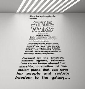A Long Time Ago In a Galaxy Far Far Away Star Wars Wall Decal Vinyl Sticker 923