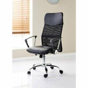 Hartley High Back Mesh Office Chair Executive Swivel Computer Desk Chair Black