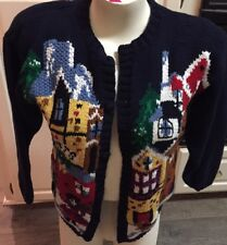 Birch Brothers Large  Christmas Sweater  Knitted By Hand
